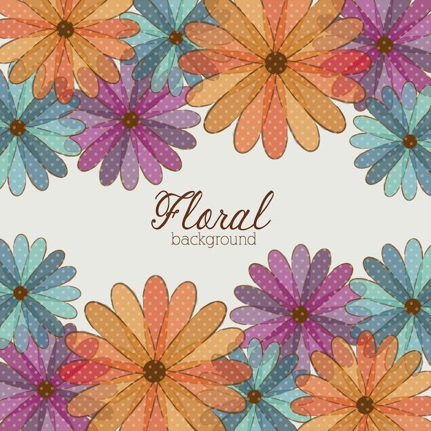 Art floral Vecteur Premium