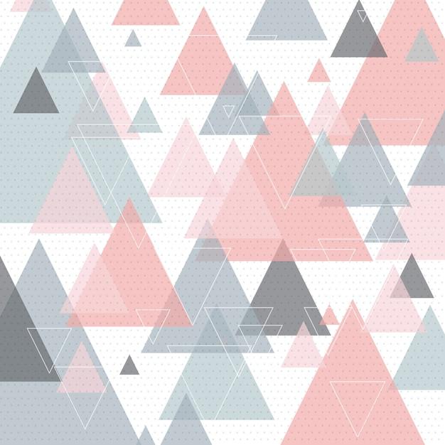 Art triangulaire abstrait de style scandinave Vecteur gratuit