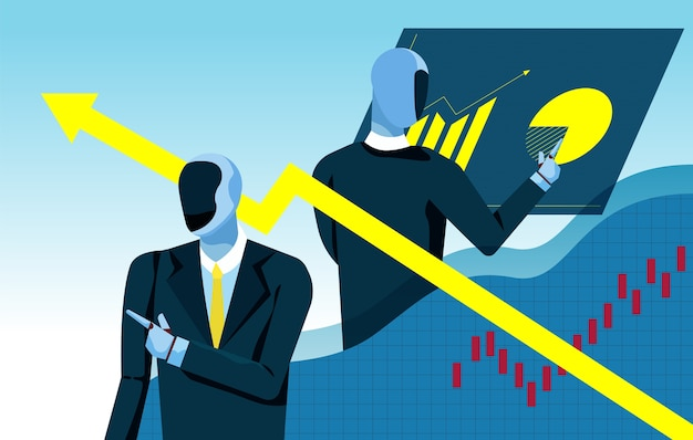 Les artefacts intelligents analysent le graphique marketing Vecteur Premium