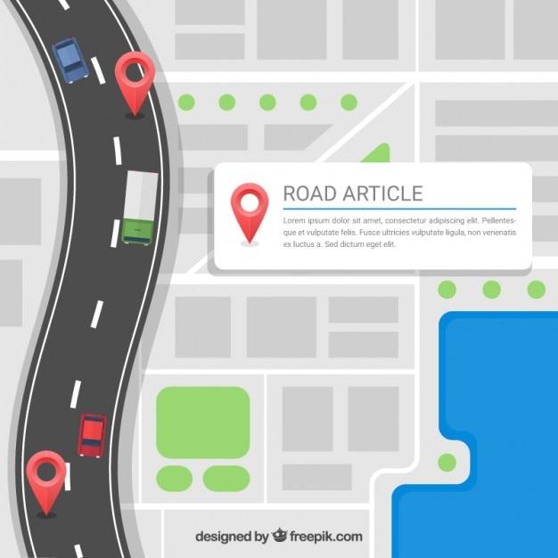 Article De Route Modèle Vecteur gratuit