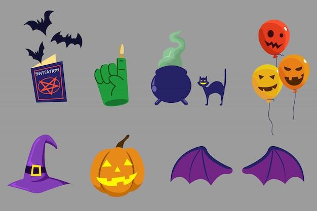 Articles de fête pour halloween Vecteur Premium