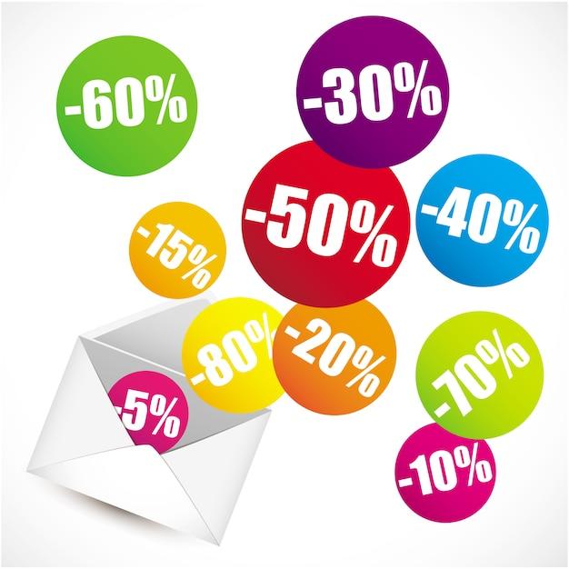 Articles en pourcentage Vecteur Premium