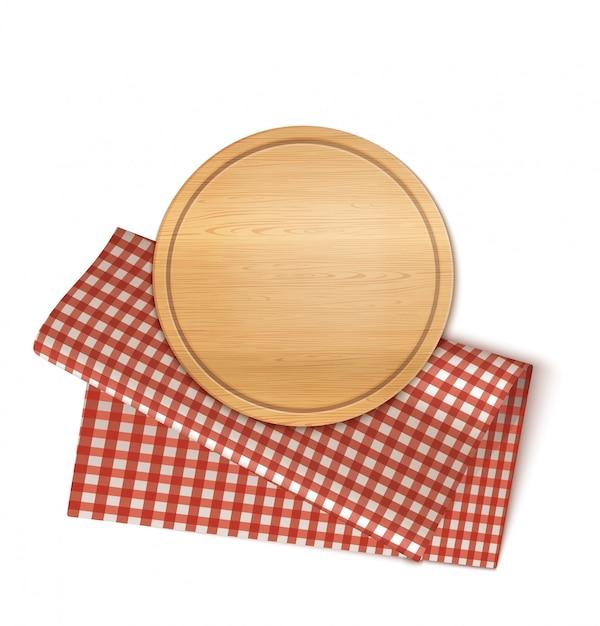 Assiette Et Serviette Ronde Vecteur Premium