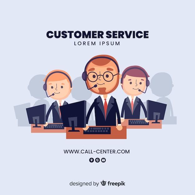 Assistant de centre d'appels aidant les clients Vecteur gratuit