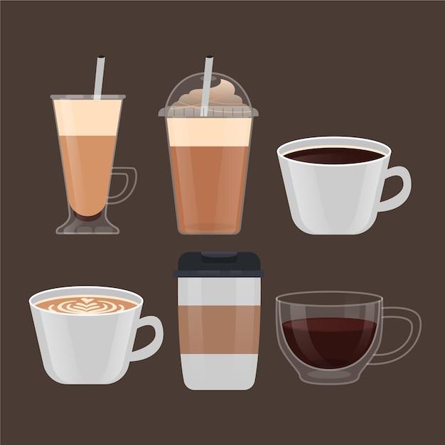 Assortiment De Types De Café Vecteur gratuit