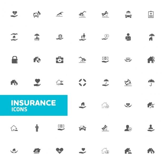 Assurance Icon Set Vecteur gratuit