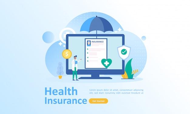 Assurance soins de santé Vecteur Premium