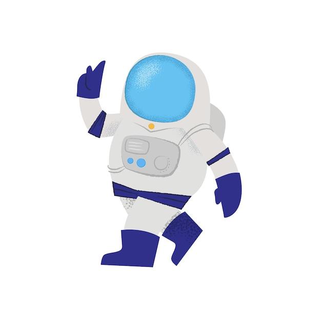 Astronaute à Pied Confiant. Personnage, Combinaison Spatiale, Mission Vecteur gratuit