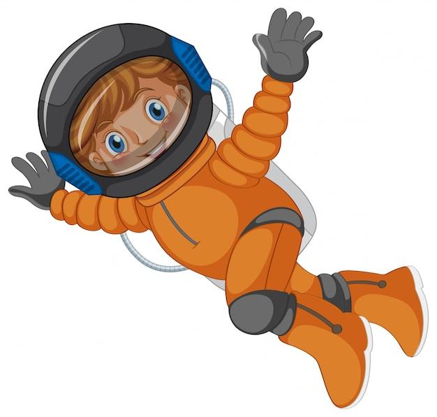 Un astronaute Vecteur gratuit