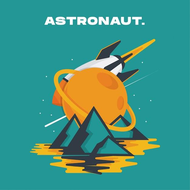 Astronaute Vecteur Premium