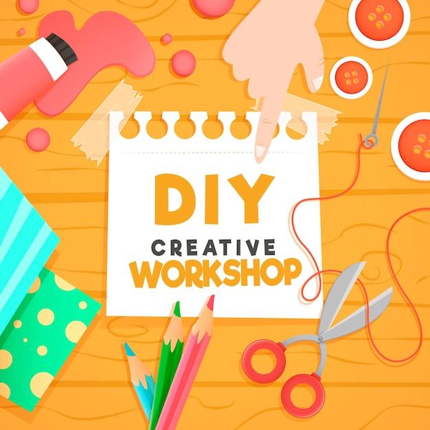 Atelier Créatif Bricolage Vecteur gratuit