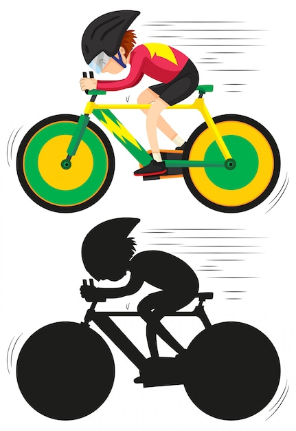 Un athlète cycliste Vecteur Premium