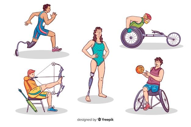 Athlète handicapé Vecteur gratuit