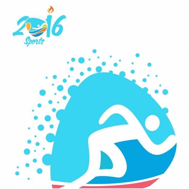 Athlétisme rio jeux olympiques icon Vecteur gratuit