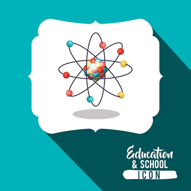 Atome à l'intérieur de l'image Vecteur Premium