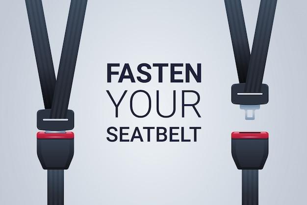 Attachez Votre Ceinture De Sécurité, Le Premier Concept De Sécurité De Voyage En Toute Sécurité Vecteur Premium