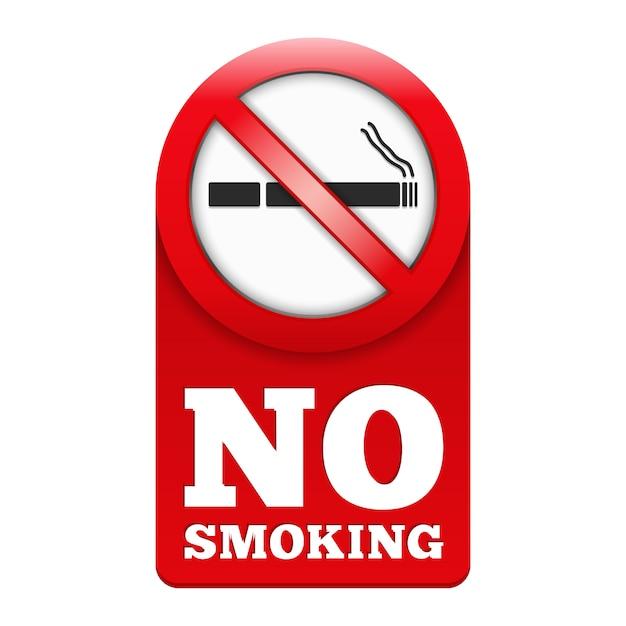 Aucun signe de fumer, illustration vectorielle eps10 Vecteur Premium