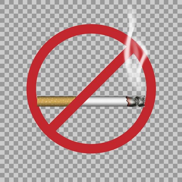 Aucun Signe De Fumer Vecteur Premium