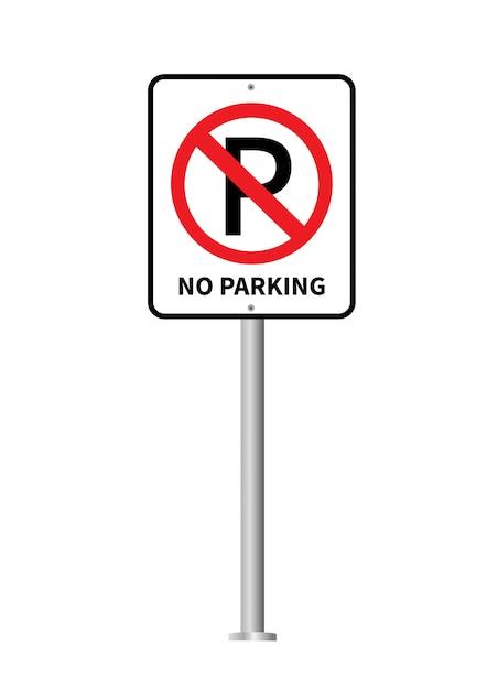 Aucun signe de stationnement vecteur. Vecteur Premium