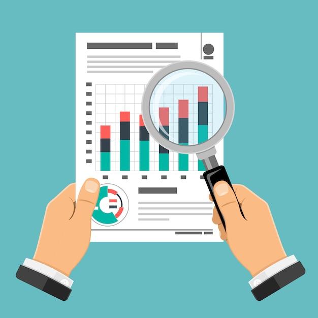 Audit, Processus Fiscal, Concept Comptable Vecteur Premium