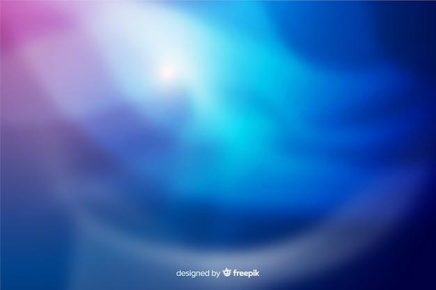 Aurores boréales bleu fond décoratif Vecteur gratuit