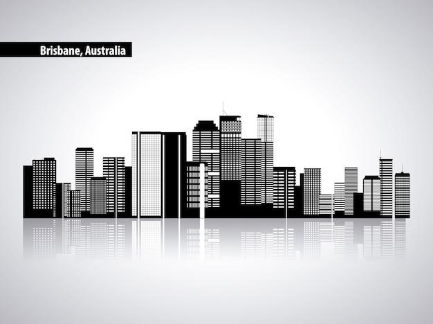 Australie Skyline, Bâtiments De La Ville Vecteur gratuit