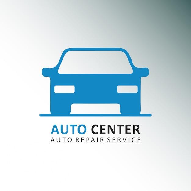 Auto centre service de réparation automobile car gris et fond blanc Vecteur gratuit