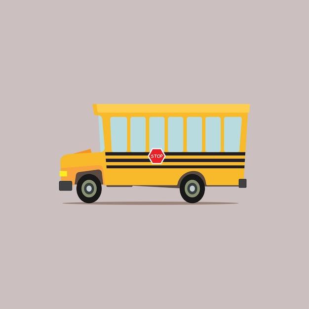 Autobus Scolaire De Dessin Animé Télécharger Des Vecteurs