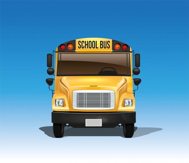 Autobus scolaire en vecteur Vecteur Premium