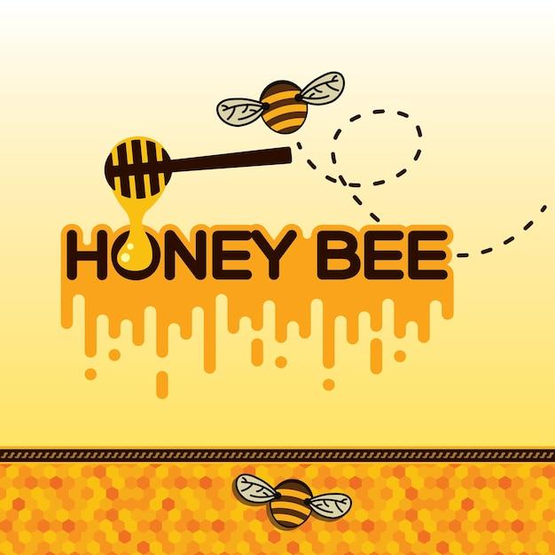 Autocollant d'abeilles Vecteur Premium