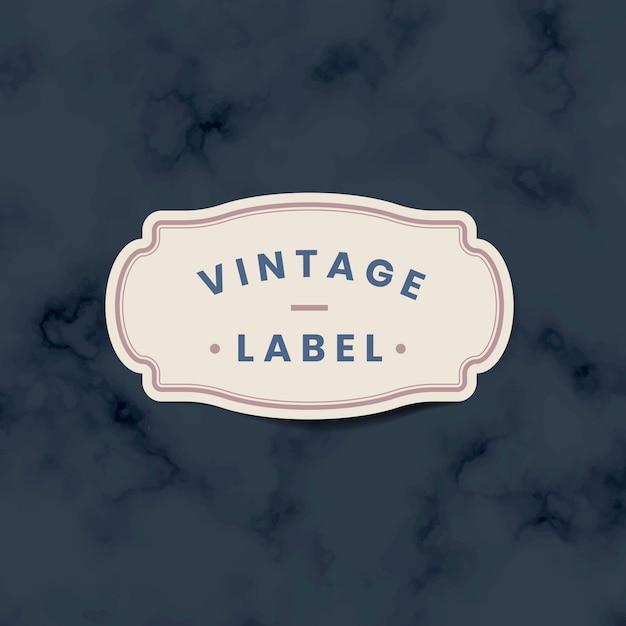 Autocollant étiquette vintage décoré de roses sur vecteur Vecteur gratuit