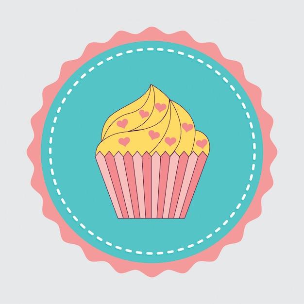 Autocollant de gâteau Vecteur gratuit