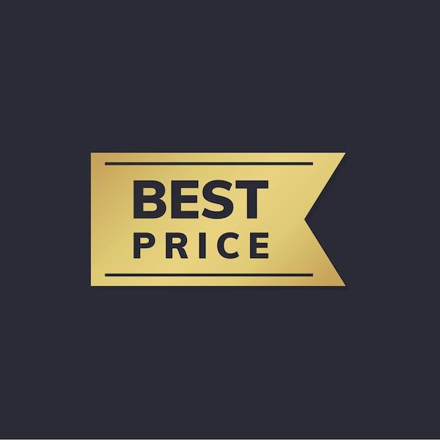 Autocollant de prix d'or Vecteur gratuit