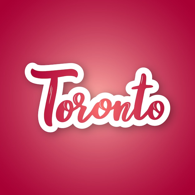 Autocollant De Toronto. Vecteur Premium