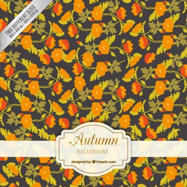Automne retro floral background   Télécharger des Vecteurs Premium a8a321efb6ec