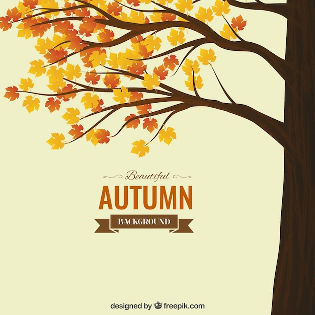 Autumn background Vecteur Premium