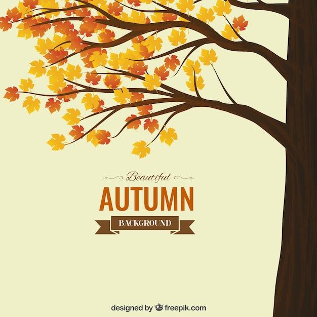 Autumn Background Vecteur Premium