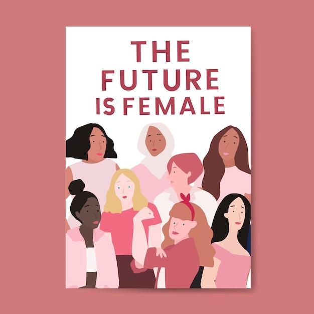 L'avenir est un vecteur féminin Vecteur gratuit