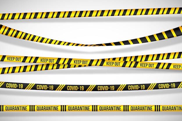 Avertissements Sur Les Dangers Des Bandes De Quarantaine Vecteur gratuit