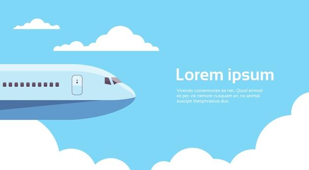 Avion, avion, transport aérien Vecteur Premium