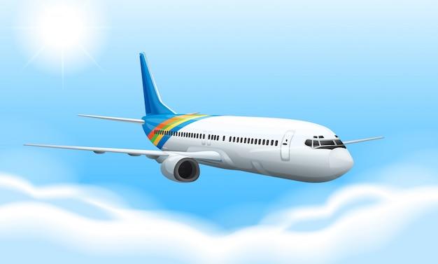 Avion commercial Vecteur Premium