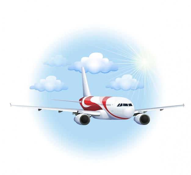 Un avion de croisière Vecteur gratuit