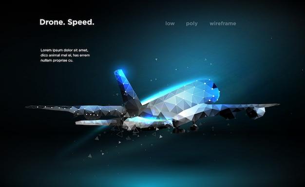Avion de ligne Vecteur Premium