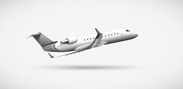 Un avion voyageant Vecteur Premium