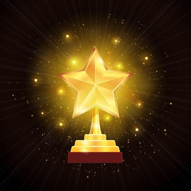 Award Gold Star Vecteur gratuit