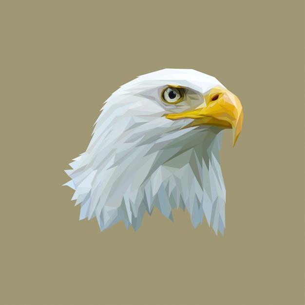 Awesome low art art eagle Vecteur Premium