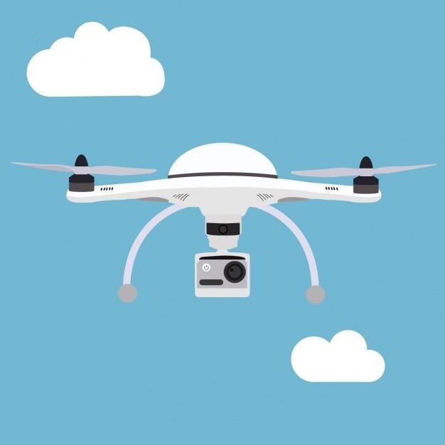 Background design drone Vecteur gratuit