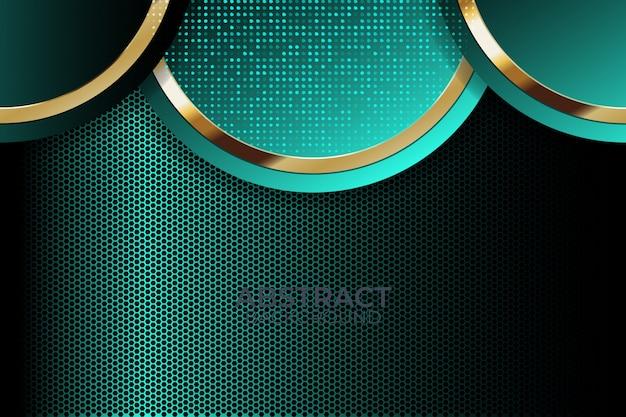 Backgroundglitter light avec technologie moderne de couleurs abstraites Vecteur Premium