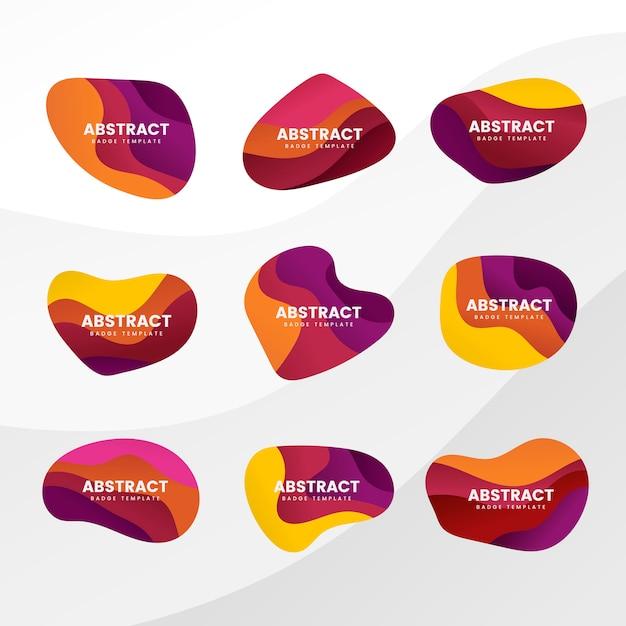 Badge abstrait Vecteur gratuit