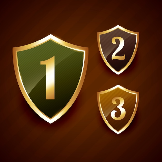Badge De Classement Doré Vecteur Premium
